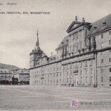 Postales: ESCORIAL.FACHADA PRINCIPAL DEL MONASTERIO.1746 HAUSER & MENET.NO CIRCULADA.. Lote 18894892
