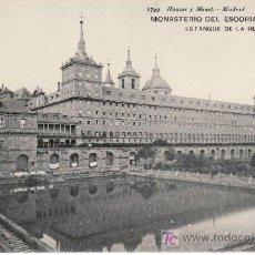 Postales: MONASTERIO DEL ESCORIAL.1744 HAUSER & MENET.ESTANQUE DE LA HUERTA.NO CIRCULADA.. Lote 21424749