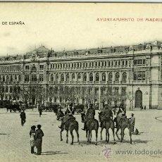 Postales: POSTAL MADRID BANCO DE ESPAÑA CON GUARDIAS A CABALLO. Lote 8636756