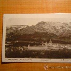 Postales: POSTAL MONASTERIO DEL ESCORIAL VISTA GENERAL CIRCULADA. Lote 8688235