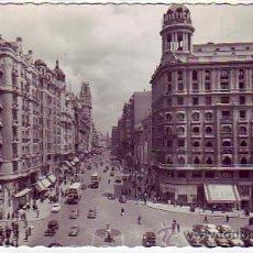 Postales: MADRID: AVENIDA DE JOSE ANTONIO: POSTAL ED. GARCIA GARRABELLA CIRCULADA 1956 CORREO AEREO A USA. Lote 8772110