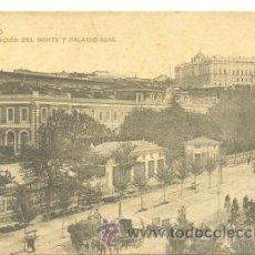 Postales: POSTALES MADRID .. ESTACIÓN DEL NORTE Y PALACIO REAL. Lote 25639539