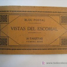 Postales: BLOC 20 POSTALES VISTAS DEL ESCORIAL - 1ª SERIE - ROIG. Lote 8895750