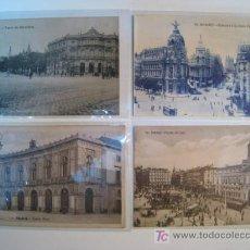 Postales: LOTE 4 POSTALES ANTIGUAS MADRID (19,13,64,...). Lote 8937164