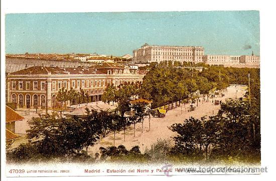 MADRID - ESTACIÓN DEL NORTE Y PALACIO REAL (Postales - España - Comunidad de Madrid Antigua (hasta 1939))
