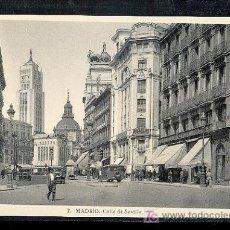 Postales: MADRID. CALLE DE SEVILLA.. Lote 8995074