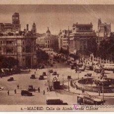 Postales: MADRID Nº4.CALLE DE ALCALA DESDE CIBELES.ESCRITA, VER FOTO ADICIONAL.HELIOTIPIA ARTISTICA ESPAÑOLA.. Lote 20980140