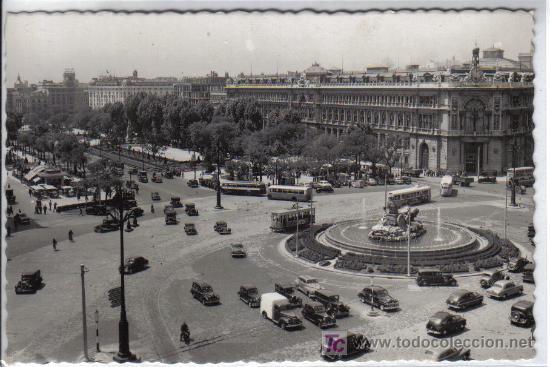 38 MADRID - BANCO DE ESPAÑA Y PASEO DEL PRADO (Postales - España - Madrid Moderna (desde 1940))