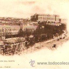 Postales: POSTAL MADRID ESTACION DEL NORTE Y PALACIO REAL. Lote 9284560