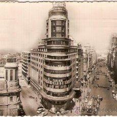 Postales: ANTIGUA POSTAL 6 MADRID AVENIDA DE JOSE ANTONIO Y CAPITOL CIRCULADA 1956. Lote 9524364