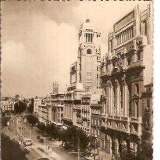 Postales: ANTIGUA POSTAL Nº 16 MADRID CALLE DE ALCALA Y BELLAS ARTES CIRCULADA 1950. Lote 9526432