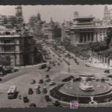 Postales: MADRID. PANORÁMICA DE LA PLAZA DE LA CIBELES Y CALLE DE ALCALÁ. FECHADA EN 1958. Lote 9534216