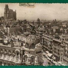 Postales: MADRID - VISTA PANORAMICA - POSTAL CIRCULADA EN 1953 A ROSARIO - BUEN FRANQUEO. Lote 19769367