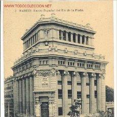Postales: TARJETA POSTAL DE MADRID BANCO ESPAÑOL DEL RIO DE LA PLATA Nº 2 HAUSER Y MENET. Lote 4143140