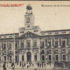 Postales: TARJETA POSTAL DE MADRID- PUERTA DEL SOL: MINISTERIO DE LA GOBERNACION.. Lote 3969563
