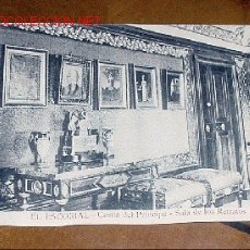 Postales: ANTIGUA POSTAL DE MADRID - EL ESCORIAL - CASITA DEL PRINCIPE - SALA DE LOS RETRATOS - MATEU S.A.- . Lote 1855156
