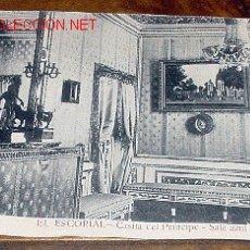 Postales: ANTIGUA POSTAL DE MADRID - EL ESCORIAL - CASITA DEL PRINCIPE - SALA AZUL - MATEU S.A.- SIN CIRCULA. Lote 1855190