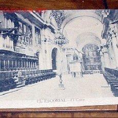Postales: ANTIGUA POSTAL DE MADRID - EL ESCORIAL - EL CORO - MATEU, S.A. - SIN CIRCULAR - DETERIORADA POR HUM. Lote 1855198