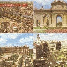 Postales: 4 LÁMINAS DE MADRID. AÑOS 70.. Lote 22730129