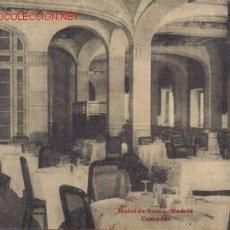 Postales: TARJETA POSTAL DE MADRID. HOTEL DE ROMA, COMEDOR.. Lote 7005122