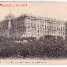Postales: MADRID.- PALACIO REAL VISTO DESDE EL PASEO DE SAN VICENTE. Lote 3145520