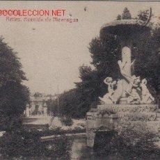Cartoline: MADRID - RETIRO, AVENIDA DE NICARAGUA.-. Lote 4811957