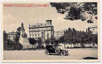 MADRID PASEO DE LA CASTELLANA MONUMENTO A CASTELAR. ED. FOTOTIPIA HAUSER Y MENET. Nº 31 SIN CIRCULAR (Postales - España - Comunidad de Madrid Antigua (hasta 1939))