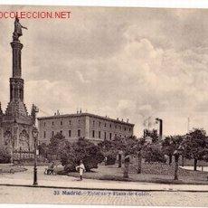 Postales: 33 MADRID. ESTATUA Y PLAZA DE COLON. Lote 2838151