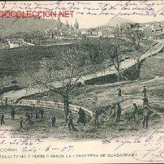 Postales: EL ESCORIAL, DESDE LA CARRETERA GUADARRAMA HAUSER Y MENET Nº 6. Lote 26839919