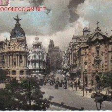 Postales: MADRID - CALLE DE ALCALA Y AVENIDA JOSE ANTONIO.-. Lote 4776550