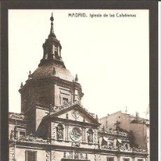 Postales: POSTAL FOTOGRÁFICA DE MADRID. IGLESIA DE LAS CALATRAVAS. FOTOTIPIA THOMAS. Lote 27330877