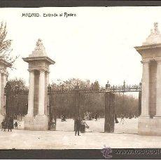 Postales: POSTAL FOTOGRÁFICA DE MADRID. ENTRADA AL RETIRO. FOTOTIPIA THOMAS. Lote 27330876