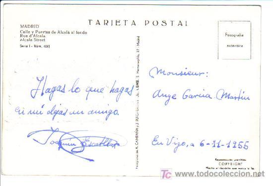 Postales: MADRID - Calle y Puertas de Alcalá al fondo - - Foto 2 - 26681545
