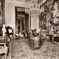Postales: ANTIGUA POSTAL Nº 20 PALACIO REAL MADRID SALA PRIVADA DE LA REINA MADRE FOTO J.CEBOLLERO. Lote 10083066