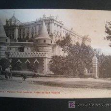 Postales: POSTAL MADRID: PALACIO REAL DESDE PASEO SAN VICENTE. Lote 10160125