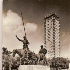Postales: ANTIGUA POSTAL Nº 47 MADRID MONUMENTO CERVANTES FOTO J CEBOLLERO CIRCULADA 1961. Lote 10185303