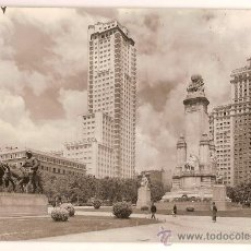 Postales: ANTIGUA POSTAL Nº 42 MADRID PLAZA DE ESPAÑA CIRCULADA 1960 ED GARRABELLA. Lote 10185345