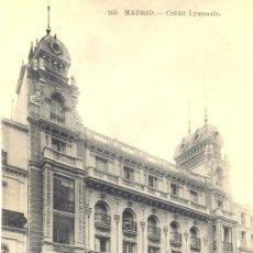 Postales: MADRID. EDIFICIO DE CREDIT LYONNAIS. POSTAL, BLANCO Y NEGRO, C. 1915. M. Lote 25356303