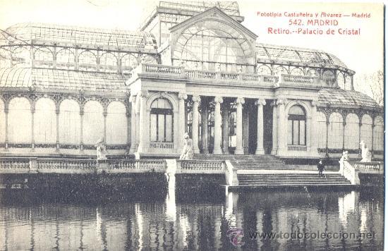 Madrid El Retiro Palacio De Cristal Postal Comprar