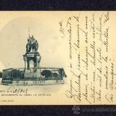 Cartes Postales: POSTAL DE MADRID: MONUMENTO A ISABEL LA CATÓLICA (HAUSER Y MENET NUM.22). Lote 10297996