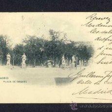 Postales: POSTAL DE MADRID: PLAZA DE ORIENTE (HAUSER Y MENET NUM.370). Lote 10298076