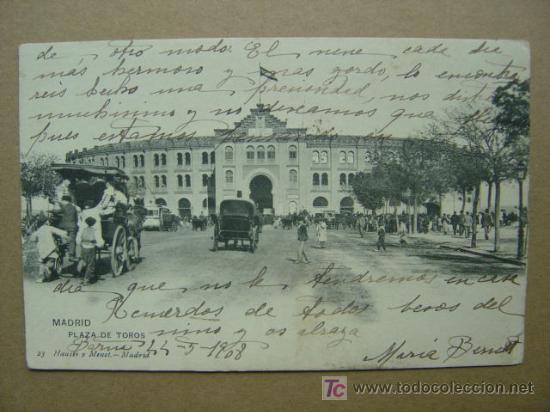 MADRID - PLAZA DE TOROS (Postales - España - Comunidad de Madrid Antigua (hasta 1939))