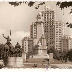 Postales: ANTIGUA POSTAL 78 MADRID PLAZA DE ESPAÑA MONUMENTO A CERVANTES ED G.GARRABELLA. Lote 10392218