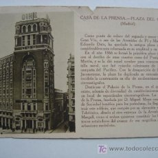 Postales: MADRID - CASA DE LA PRENSA. PLAZA DEL CALLAO. Lote 10564418