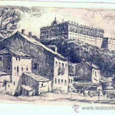 Postales: MADRID. VISTA AL PALACIO REAL. POSTAL-AGUAFUERTE ORIGINAL DE ZIEGLER, C. 1950-1960. M. Lote 25520573