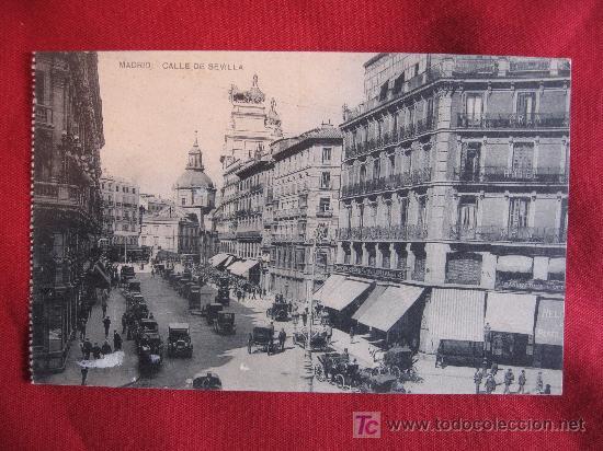 MADRID - CALLE DE SEVILLA (Postales - España - Comunidad de Madrid Antigua (hasta 1939))