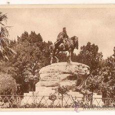 Postales: ANTIGUA POSTAL 13 MADRID RETIRO MONUMENTO AL GNERAL MARTINEZ CAMPOS FOTOTIPIA HAUSER Y MENET. Lote 10905603
