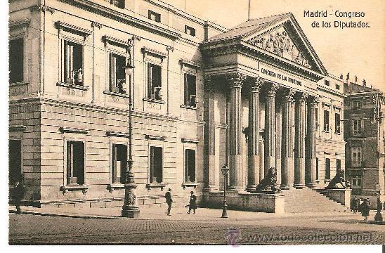 POSTAL DE MADRID - CONGRESO DE LOS DIPUTADOS SIN Nº EDICIONES GRANDES AL MACENES MADRID - PARIS (Postales - España - Comunidad de Madrid Antigua (hasta 1939))