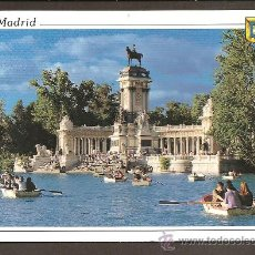 Postales: MADRID - ESTANQUE DEL RETIRO-MONUMENTO A ALFONSO XII - DOMINGUEZ - CIRCULADA. Lote 11461490