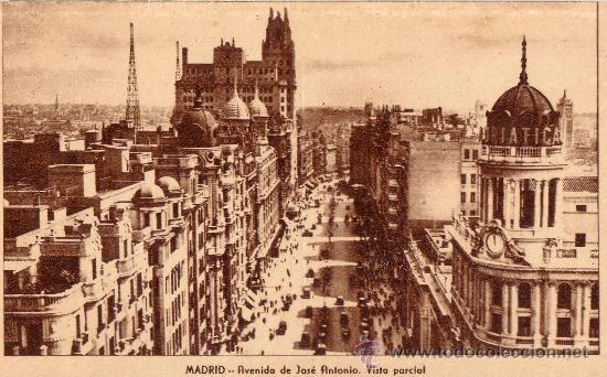 MADRID - ARRIBAS - AVENIDA DE JOSE ANTONIO. VISTA PARCIAL (Postales - España - Madrid Moderna (desde 1940))